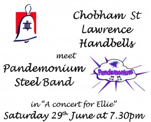 Chobham St Lawrence Handbells meet Pandemonium Steel Band